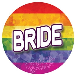 rainbow pride bride badge