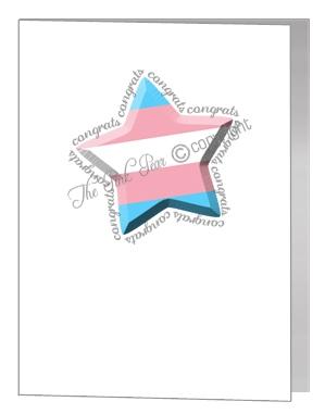 transgender congratulations star card