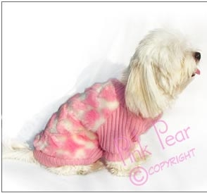 doggie faux fur sweater