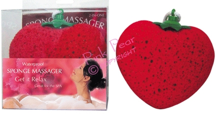 heart waterproof sponge massager vibrator