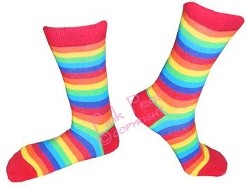 rainbow socks - female