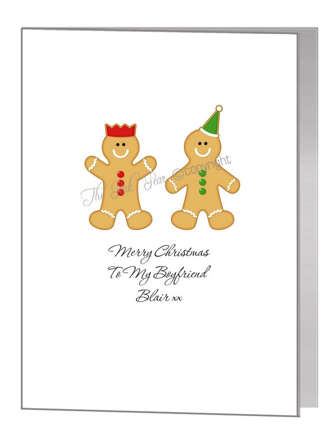 gay gingerbread men couple - pride xmas