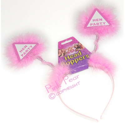 pink headband bopper - hen party