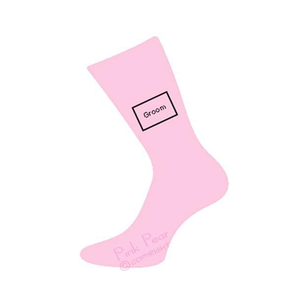 groom socks - pink