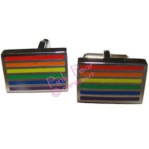 rainbow flag cufflinks