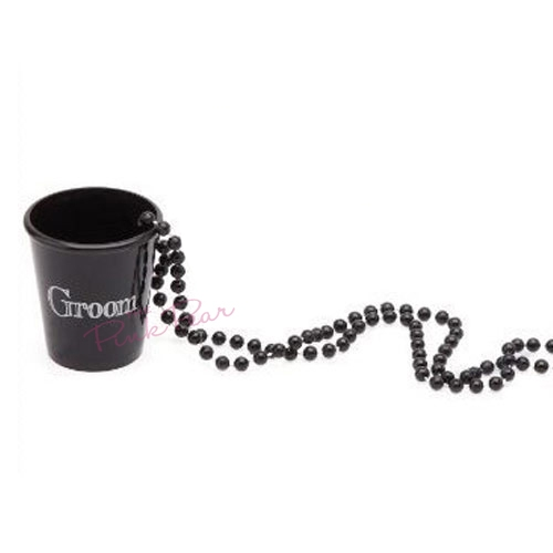 groom shot glass necklace