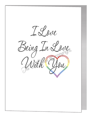 I love being in love with you card