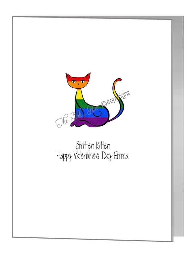 valentine card - smitten kitten