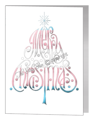 transgender merry christmas wording tree card