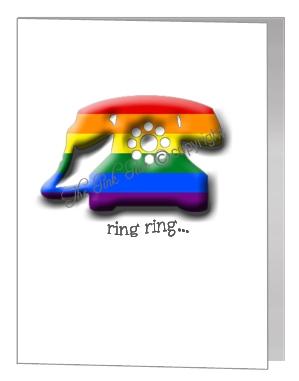 rainbow telephone card