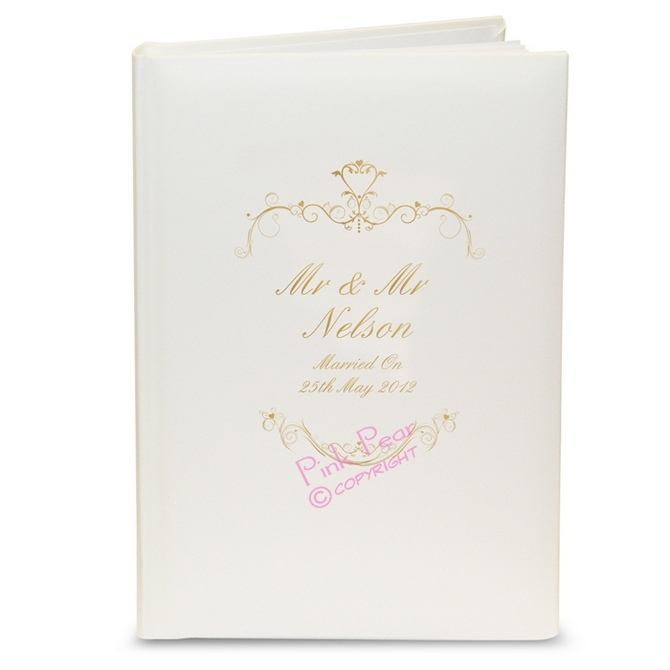 gold swirl album with sleeves