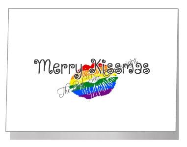 rainbow merry kissmas - pride xmas