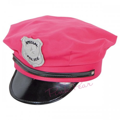 neon pink police hat
