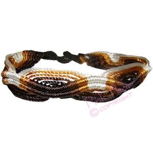 bear woven macrame friendship bracelet