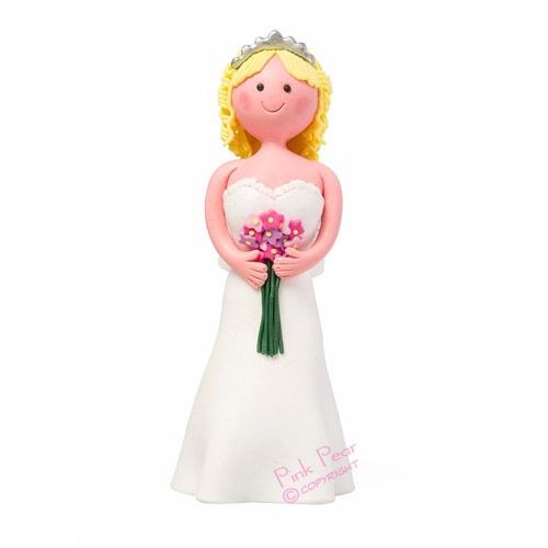 bride cake topper - blonde