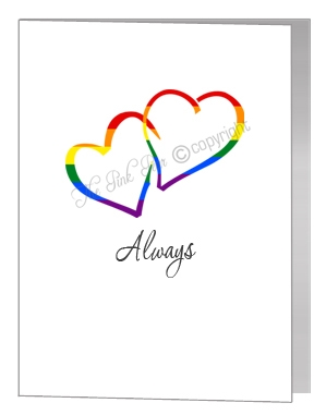 entwined hearts card