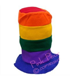 rainbow stove pipe top hat