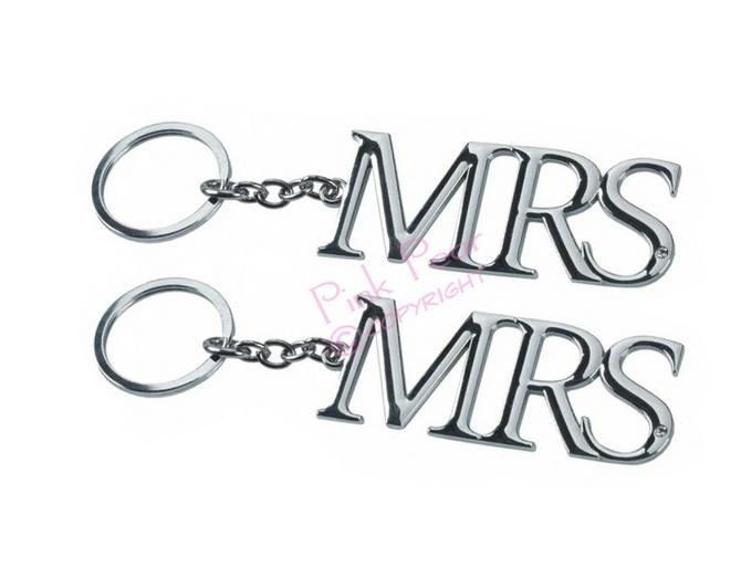 mrs & mrs keyring set