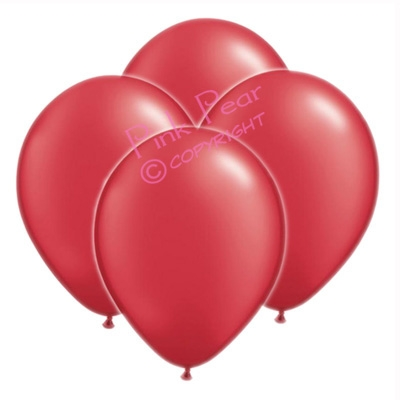 hen party balloons - metallic cherry red (10)