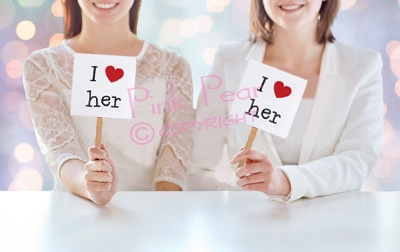 photo prop cards on sticks - I love her
