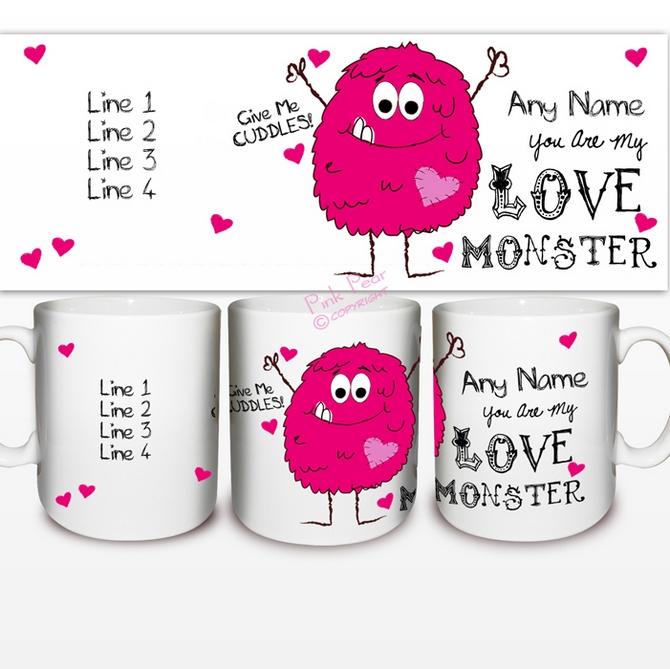 love monster mug