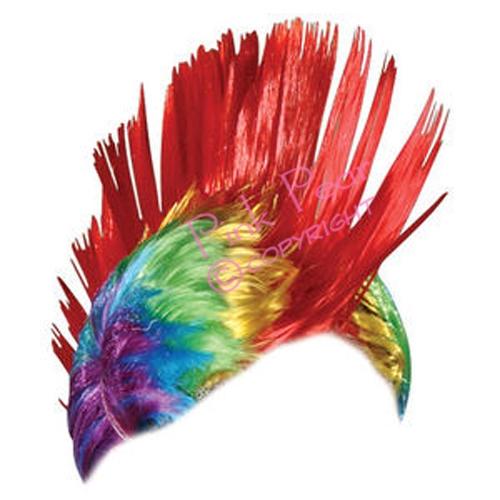 gay pride mohawk wig