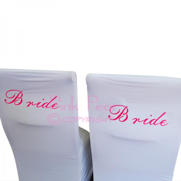 bride chair covers (set of 2)