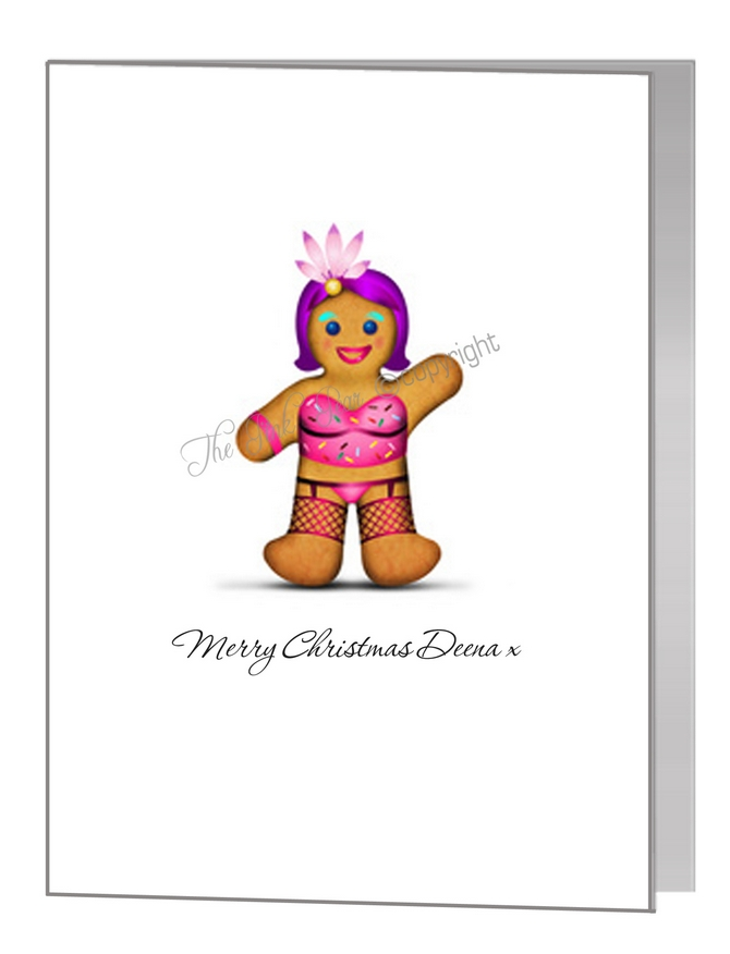 drag queen gingerbread female / man - pride xmas