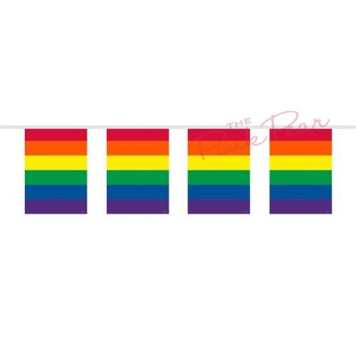 rectangular rainbow bunting
