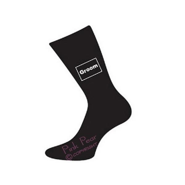 groom socks - black
