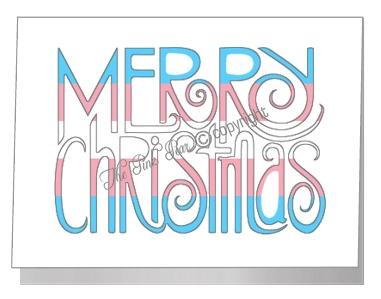 transgender merry christmas wording card