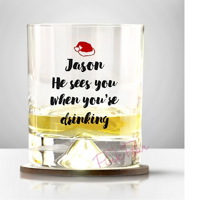 Personalised Santa's Whisky Glass