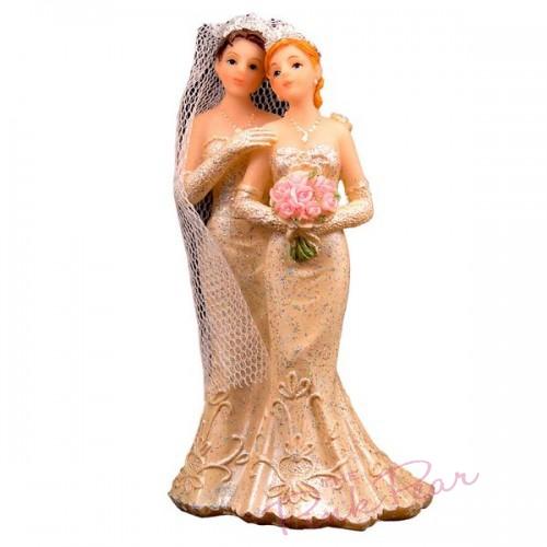 brides cake topper - lesbian (glitter finish)