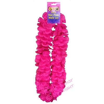hot pink hula lei