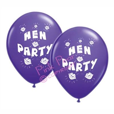 hen party balloons - purple