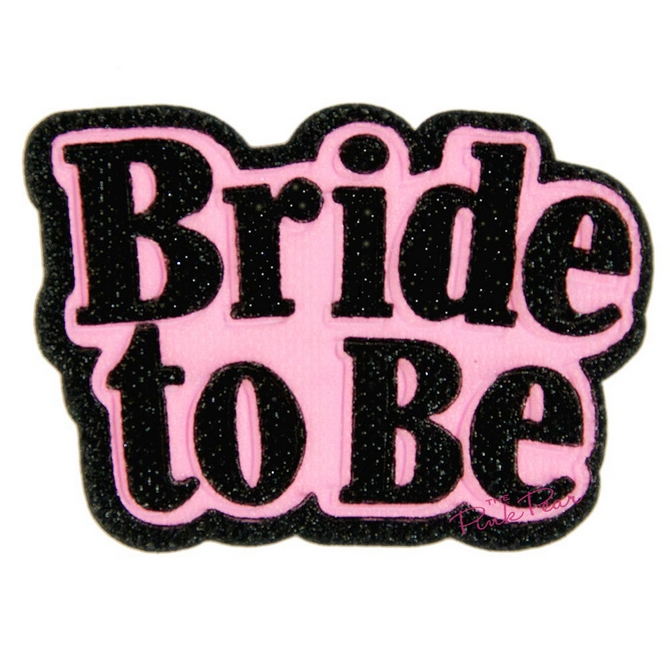 3d bride to be padded brooch