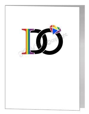 civil partnership card for wife / husband - I Do