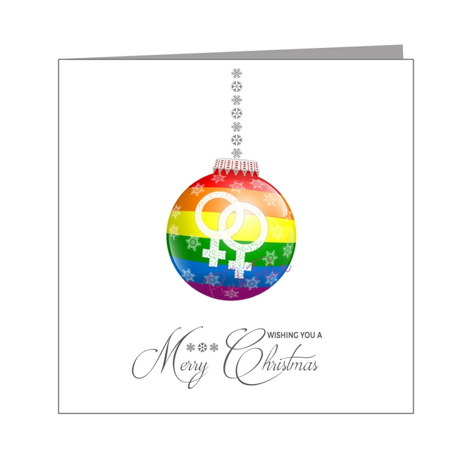 rainbow bauble - lesbian - pride xmas