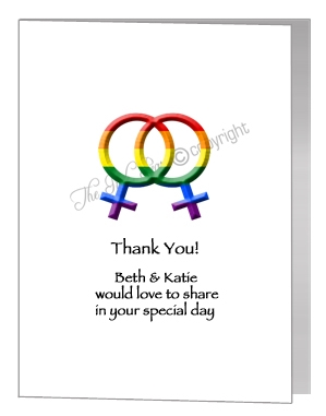 civil partnership acceptance female symbols card