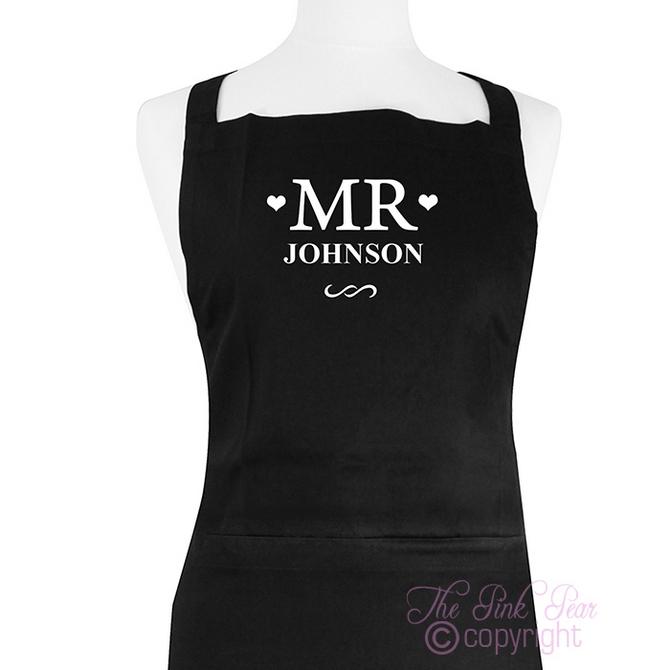 mr & mr apron set