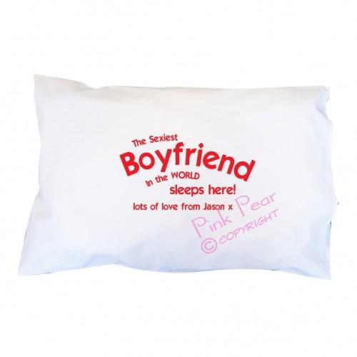 sexiest boyfriend pillowcase