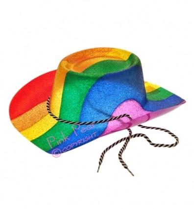 rainbow glitter cowboy hat