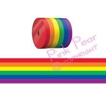rainbow crime scene tape / cordon ribbon