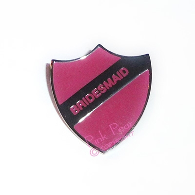 pink hen party retro enamel school badge - bridesmaid