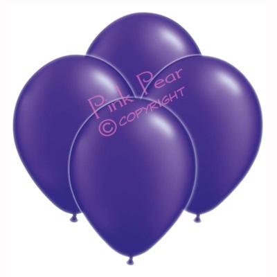 hen party balloons - metallic purple (10)