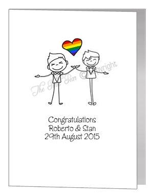 gay grooms card