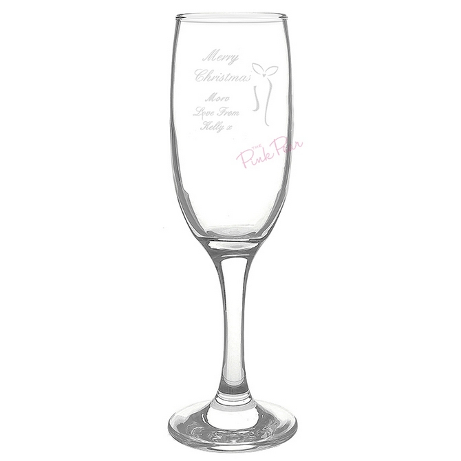 Personalised Merry Christmas Tall Flute