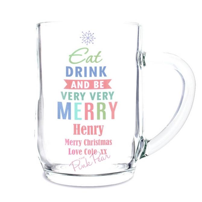 Personalised Eat Drink & Be Merry Tankard