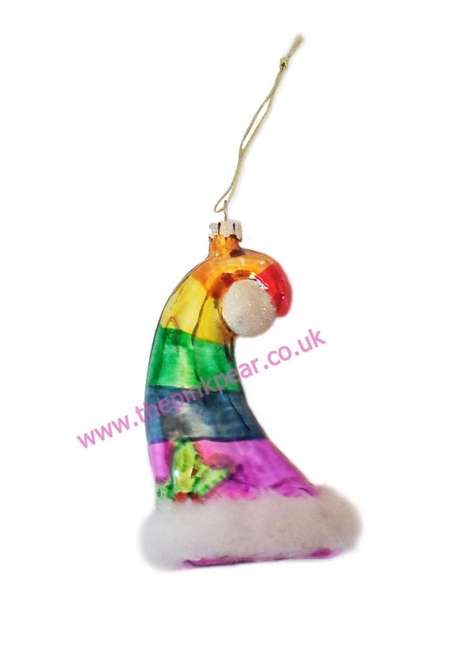 pride xmas hat ornaments