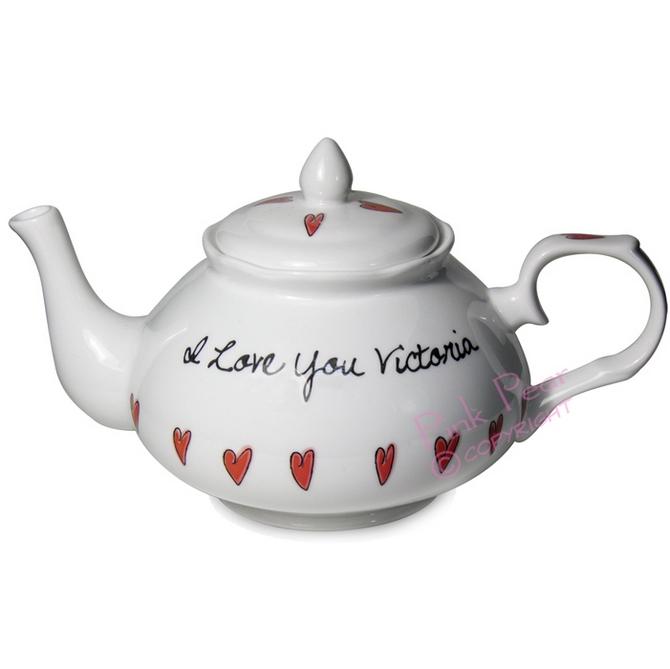 hearts teapot